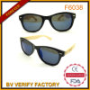 Plastic Frame and Bamboo Temple Sunglasses Men Supplier China