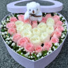 Durable Item Display Box Acrylic Rose Box