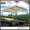 Outdoor Event Aluminum Adjustable Portable Stage with Wooden Platform
