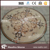 Round Mixed Color Marble Stone Water Jet Pattern/Medallion for Flooring