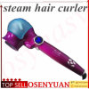 2016 New Arrival Auto Hair Curler with Steam Spray Ceramic Wave Wand Easily Curl out Stying Tools