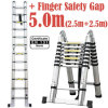 5m 2 in 1 Telescopic Ladder with Finger Safety Gap