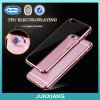 Slim Ultra Thin Soft Transparent Rubber Electroplating TPU Case for for iPhone 6
