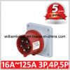 IP44 16A 3p+N+ E Industrial Panel Mounted Power Plug