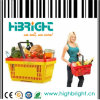 Stackable Single Handle Plastic Shopping Basket