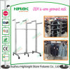 Fixtures for Clothing Shop Six Way Metal Rolling Garment Racks