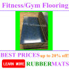 Two Layers Indoor Gym Shockproof Rubber Flooring EPDM Colorful
