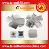 Talent Button Square 37X37mm Pin Button