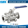 Stainless Steel 3PC Clamp Ball Valve 1000wog 12.7 K25.4