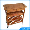 Bamboo Wooden Dining Trolley for Sale