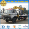 Dongfeng 4X2 5 Tons XCMG Crane Mounted on 10 Tons Load Truck