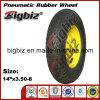 Semi-Pneumatic Trailer Jack 350-8 Rubber Wheel