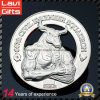 3D Silver Souvenir Coin for Promotion Gift