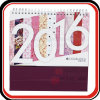 Personalised OEM Spiral Binding Calendar with Stand
