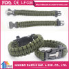 7 Core Bracelet Paracord Wholesale Survival Paracord Bracelet with Fire Starter & Whistle