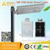 8W IP65 Waterproof Outdoor Integrated Solar LED Street Garden Light