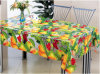 PVC Tablecloth with Clear Transparent Printed Design Popular in Home/Party/Outdoor