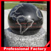 Black Granite Ball with G603 Base Stone Rolling Sphere Fountain