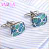 VAGULA Gemelos Men French Shirt Enamel Brass Cuff Links 350