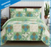 Vintage Country Printed Polyester Patchwork Style Bedspread Set