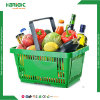 Portable Single Handle Plastic Basket for Supermarket