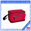 Red Zipper Insulated Cooler Bag, Small Lunch Bag
