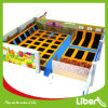 Customized Indoor Big Gymnastic Trampoline Park with Basketball Hoops