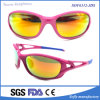 Women Sport Mirror Tr90 UV400 Sunglasses with Rubber Temple