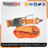 Ratchet Tie Down Strap with Double J Hooks