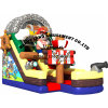 Pirate Boat Shaqe Inflatable Printing Slide