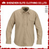 Grey Security Long Sleeve Work Shirts for Men (ELTHVJ-305)