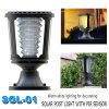 White Outdoor Garden LED Solar Pillar Light 1W Manufacturer