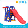 Good Quality Popular Large Indoor Plastic Slide with Plastic Basketball Stand
