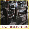 Star Hotel Restaurant Furniture Modern Black Dining Table and Cafe Chair