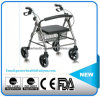 Aluminum Rollator with Footrest Shopping Cart