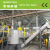 PET recycling flakes hot washing tank machine