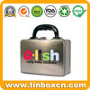 Metal Lunch Box with Handle for Gift Tin Box Packaging
