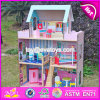 New Products Lovely Children Wooden Large Dolls House W06A037