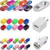 USB AC Power Adapter Wall Charger Plug + Sync Data Cable iPod iPhone 3GS 4 4s