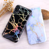 New Plated Bright Marble Phone Case for iPhone X/8/8plus