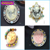 Hot Sale Hight Quality Vintage Magnetic Brococh Cameo Brooch