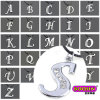 OEM High Quality Cheap Silver Crystal Alphabet Charm for Necklace