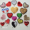 Heart Shape Clothing Patch, Heart Sewing Patch, Woven Label Iron on Sticky Applique