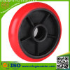 Red PU on Cast Iron Core Wheels for Caster