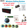 Guest Waiting System CE Approved 433.92MHz Service Pager for Fast Food Restaurant