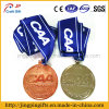 2017wholesale High Quality 2D and 3D Logo Metal Sports Medal Engraving Medal with Colorful Ribbon