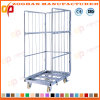 Industrial Metal Wire Mesh Warehouse Storage Container Cage with Wheels (ZHra74)