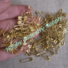 Wholesale 000# Gold Colored Metal Safety Pin for Hanging Tag
