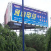 Outdoor High Pole Stand Advertising Prisma Aluminium Trivision Billboard