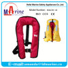 Red Color Manual Inflator Life Jacket for Wakeboard